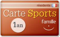 Carte sport, pour vos activités pendant l'année
