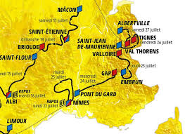 carte du passage du tour de france à Gap